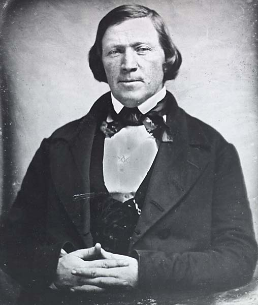 Brigham Young in 1851; photo from LDS archives